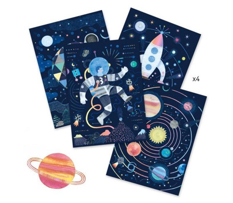 Cartes à gratter / Mission cosmique