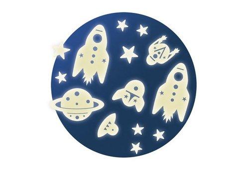 Lovely Paper Décors phosphorescents / Mission spatiale