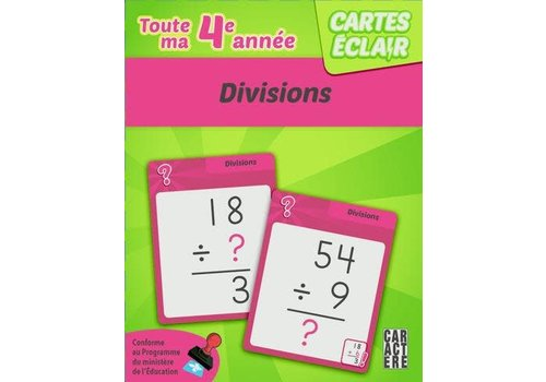 4e année - divisions