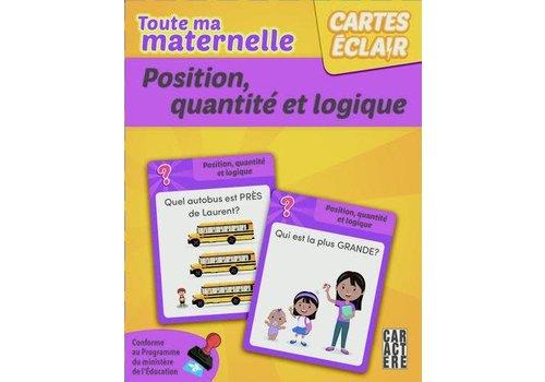 cartes éclair - Maternelle, position quantité et logique