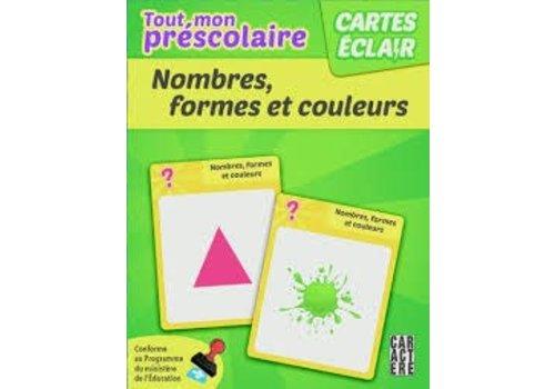 Cartes éclair - Préscolaire, Nombres, formes et couleurs