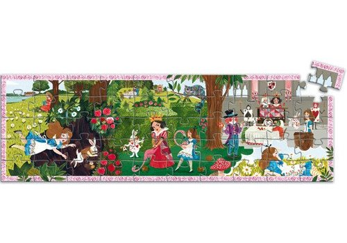 Djeco Silhouette Puzzle / Alice in Wonderland / 50 pcs