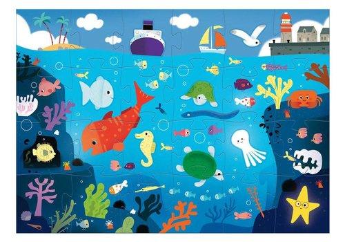 Djeco Puzzle Géant / Sous la mer / 24 + 8 pcs