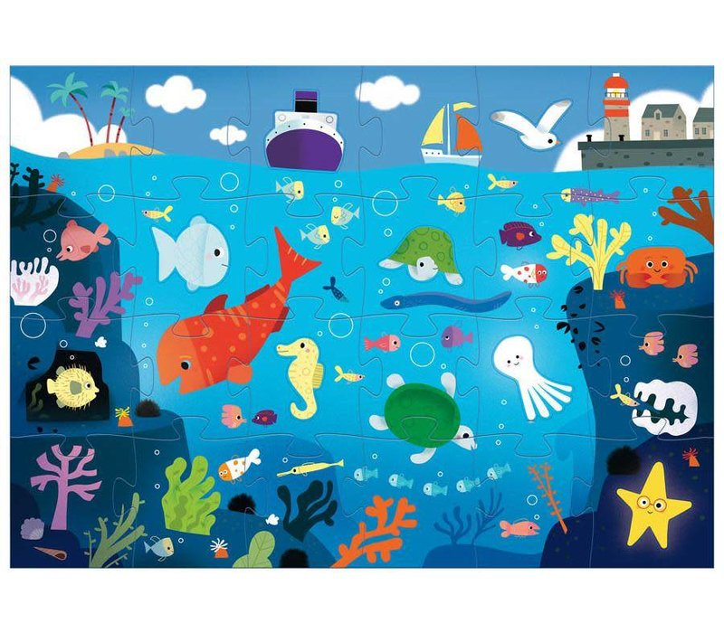 Puzzle Géant / Sous la mer / 24 + 8 pcs