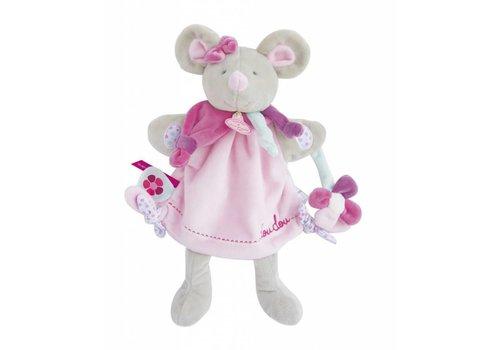 Doudou et Compagnie Marionnette Poésie Pearly la souris - 28 cm