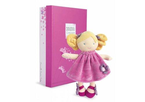 Doudou et Compagnie Demoiselles de Doudou - Pretty petite Rose - 28 cm