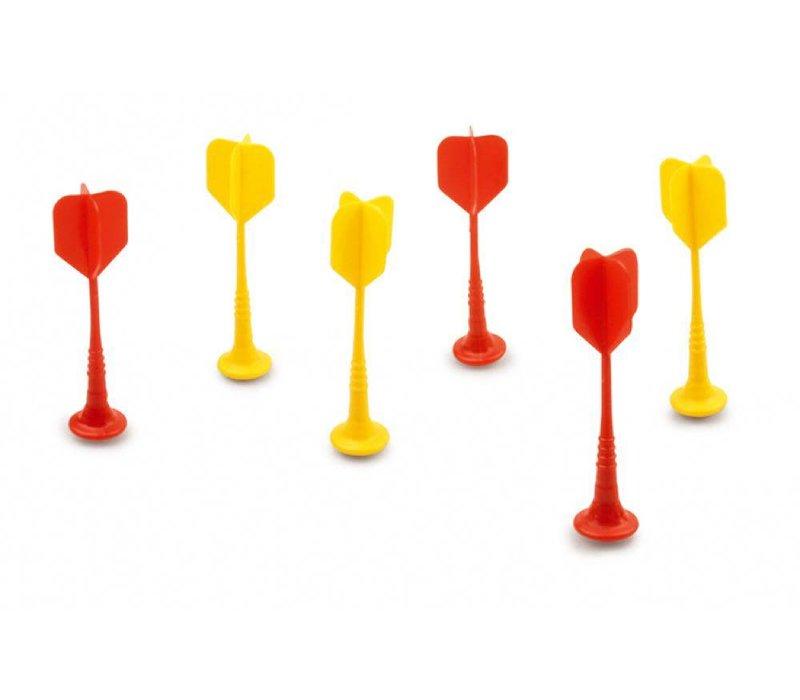 Darts magnetiques 6 pièces rouge et jaune