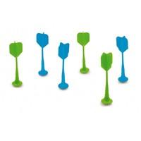 Darts magnétiques 6 pièces vert/bleu