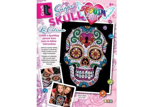 Sequin art craft teen sugar skull La catrina