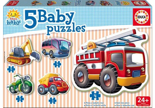 5 Casse-têtes Baby puzzles Véhicules