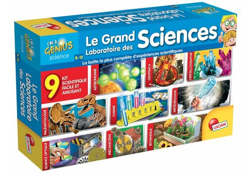 Lisciani (Giochi) I'm a genius Le grand laboratoire des 9 sciences