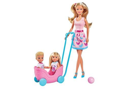 Steffi Love Promenade avec jumeaux
