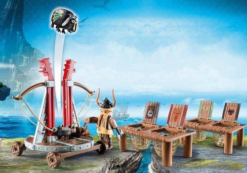Playmobil GueUlefor avec baliste lance-mouton