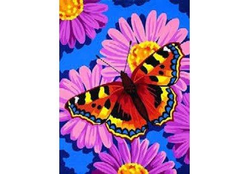 Fleur de papillon 9 x 12