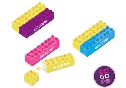 gogopo Ensemble de 2 surligneurs en blocs à imbriquer