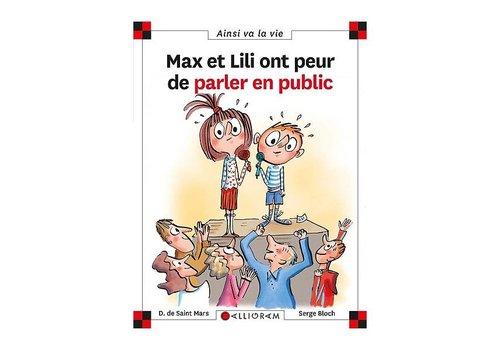 Calligram Max et Lili ont peur de parler en public