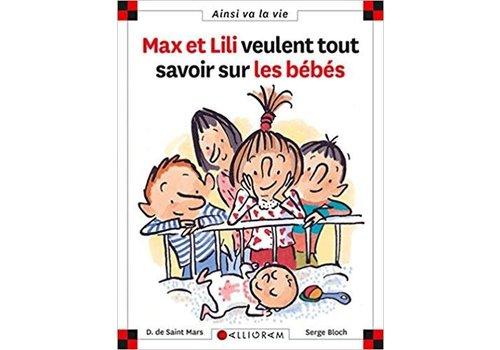 Calligram Max et Lili veulent tout savoir sur les bébés