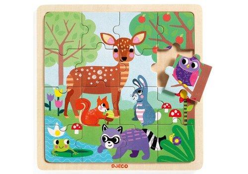 Djeco Puzzle bois / Forêt / 16 morceaux