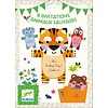 Djeco Cartes d'invitation / Animaux sauvages