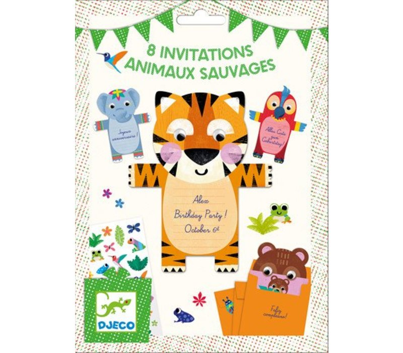 Cartes d'invitation / Animaux sauvages