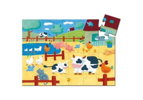 Djeco Puzzle silhouette / vache / 24 morceaux