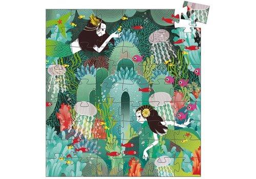 Djeco Puzzle silhouette / Paradis aquatique / 54 morceaux