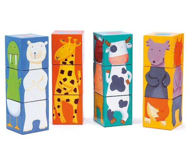 12 cubes / Animaux couleurs