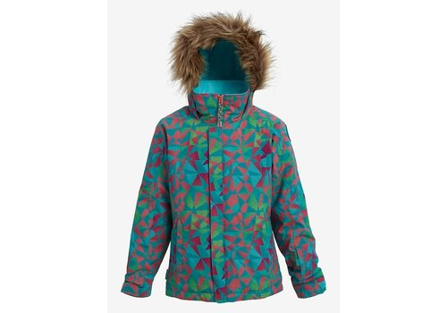 Burton Burton Girls' Bennett Jacket Green-Blue Morse Geo