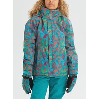 Burton Girls' Bennett Jacket Green-Blue Morse Geo