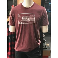 701 Cycle and Sport ND State Outline Tee