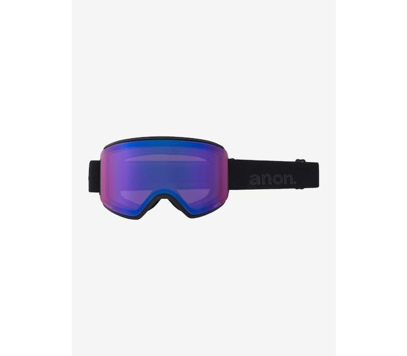 Anon Women's WM3 Goggle + Bonus Lens  Frame Color: Smoke, Lens Color: PERCEIVE Sunny Onyx, Spare Lens: PERCEIVE Variable Violet