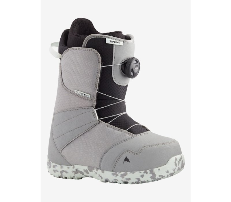 Burton Kids' Zipline Boa Snowboard Boot GRAY/NEO-MINT 4K