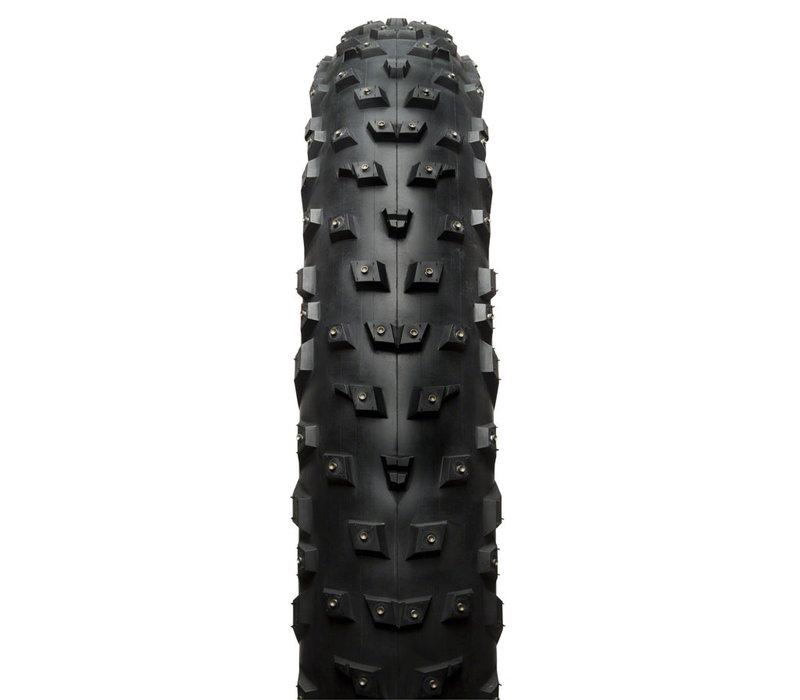 "45NRTH Wrathchild Tire 26""x4.6"" Tubeless, Folding, Black, 120tpi, 224 XL Concave Carbide Aluminum Studs"