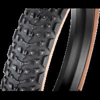 45NRTH Dillinger 5 Tire - 26 x 4.6, Tubeless, Folding, Tan, 60tpi, 258 Concave Carbide Aluminum Studs