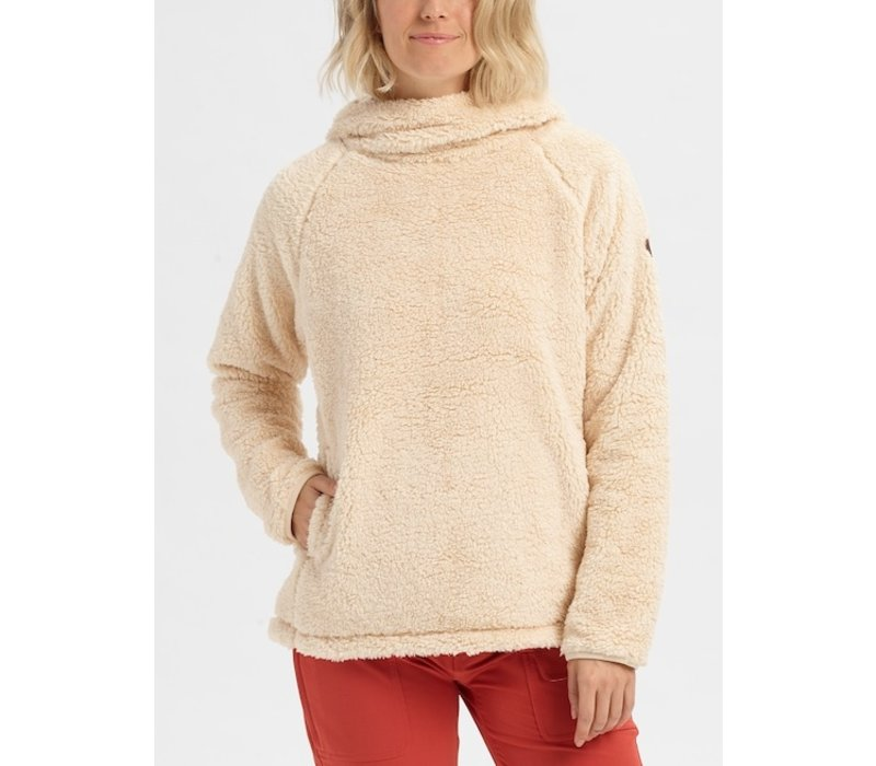 Burton Women's Lynx Pullover Fleece - Creme Brulee M
