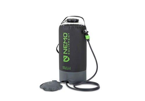 NEMO Helio™ LX Pressure Shower - Black/Apple Green