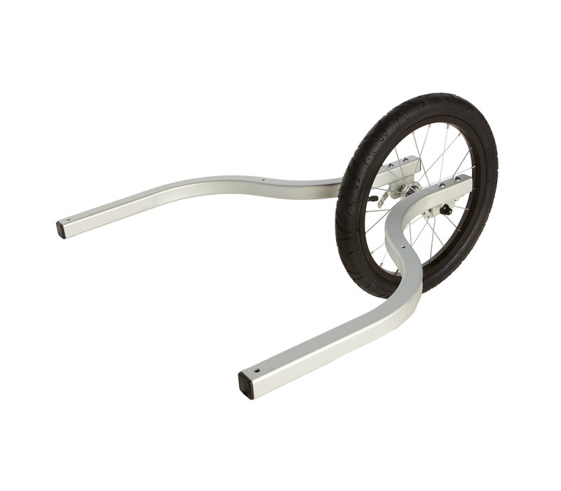 """Burley Jogger Kit for Solo trailers (Includes hand brake, extension arms and 16"""" wheel)"""