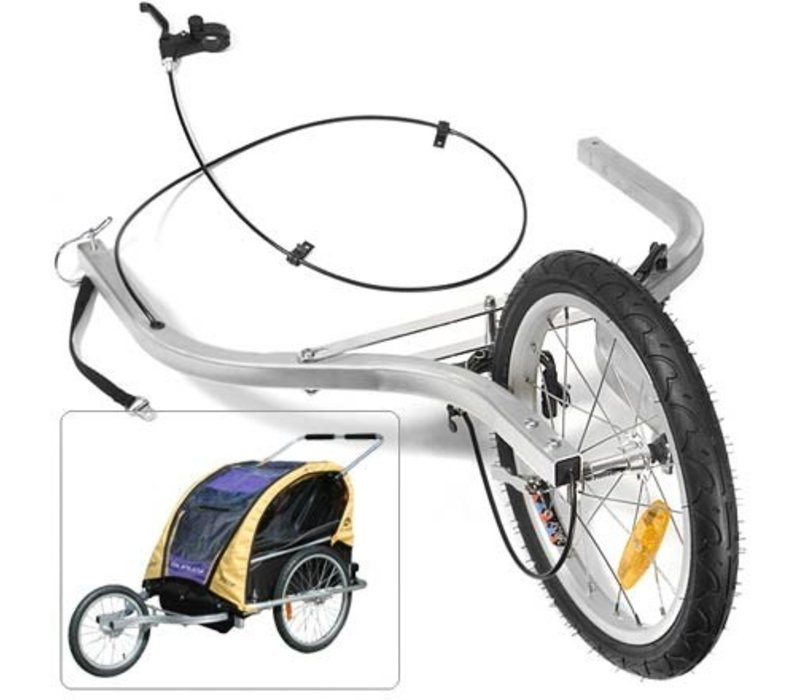 "Burley Jogger Kit for d'lite, Encore, Ladybug, and LE Tiger d'lite Trailers (Includes hand brake, extension arms and 16"" wheel)"