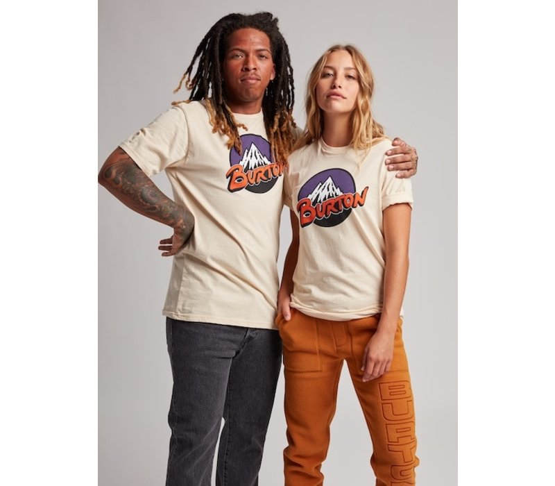 Burton Retro Mountain Short Sleeve T-Shirt - Creme Brulee - L