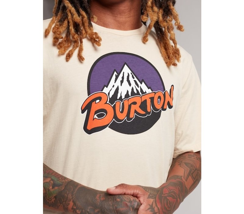Burton Retro Mountain Short Sleeve T-Shirt - Creme Brulee - L