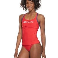 Speedo Lifeguard Tankini Top - Red