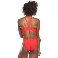 Speedo Lifeguard Flyback One Piece Swimsuit - Red