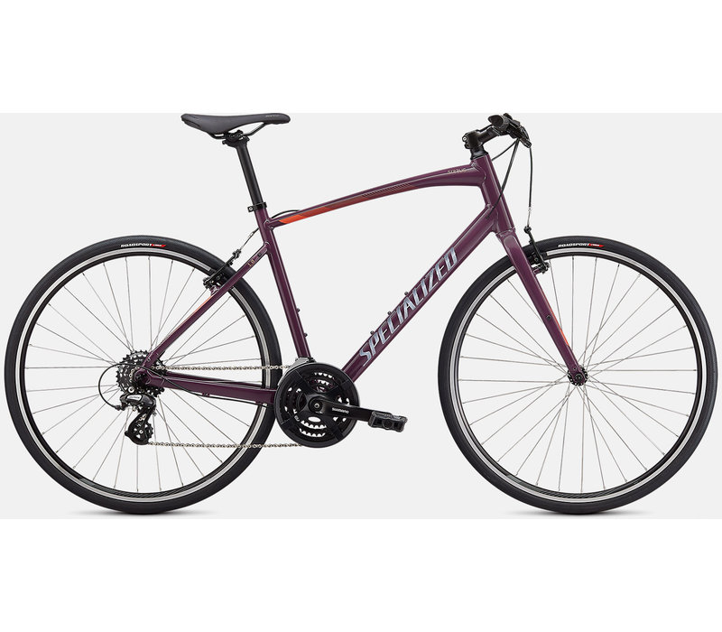 2021 Specialized Sirrus 1.0 Gloss Cast Lilac/Vivid Coral/Satin Black Reflective - XS
