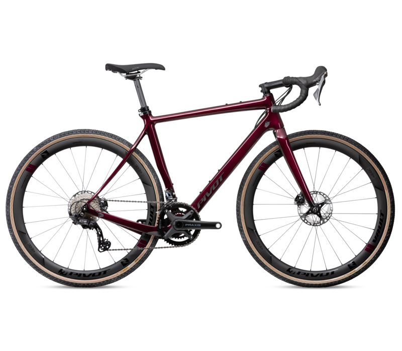 Pivot Vault V5 Pro GRX w/ Carbon Wheels - Firebrick Red S