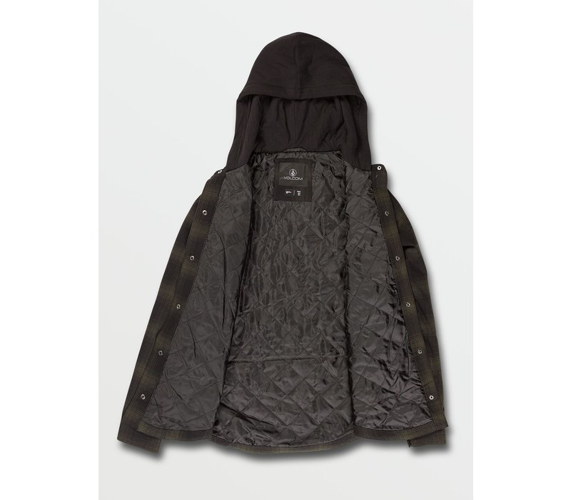 Volcom Women's Hooded Flannel Jacket