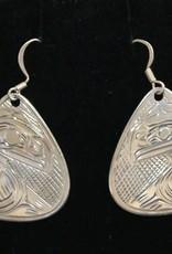 Harper Victoria Raven Silver Earring VH