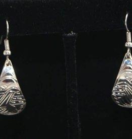 Nancy Dawson Raven Teardrop Silver Earring