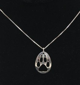 Nancy Dawson Wolf Paw Silver Necklace