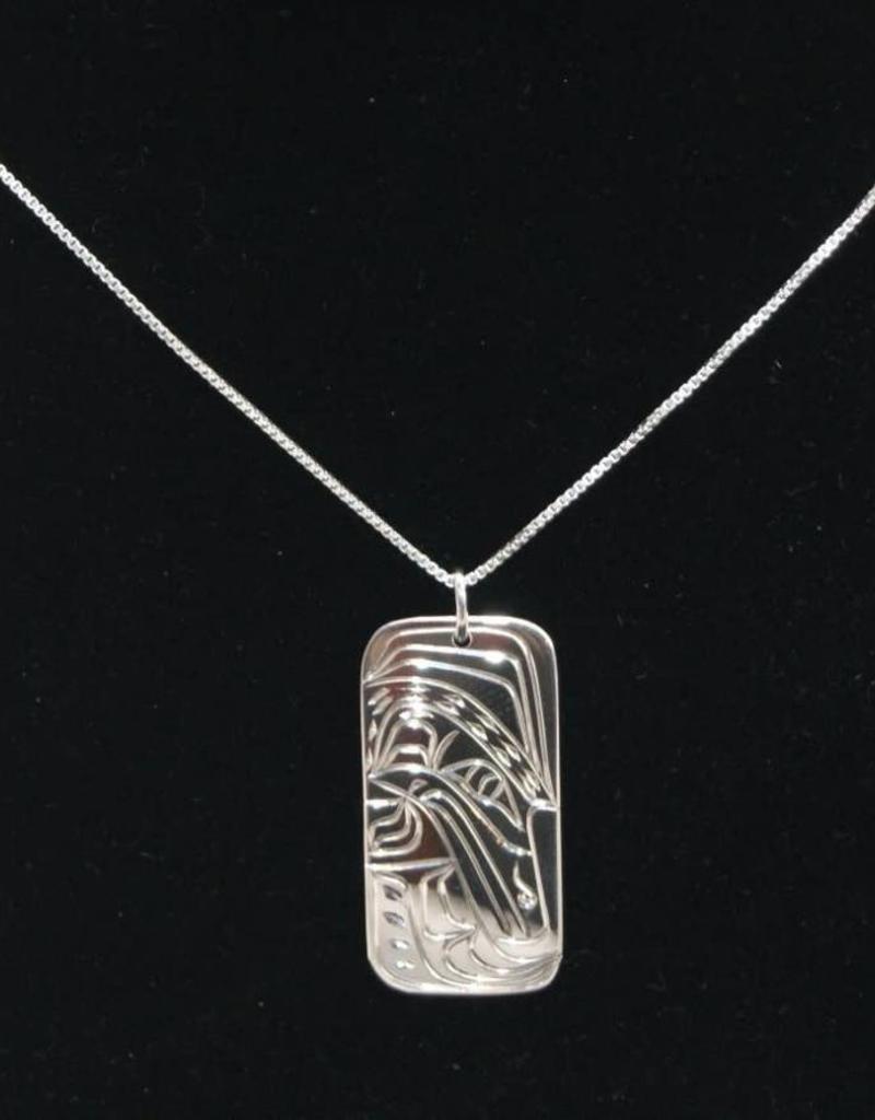 Nancy Dawson Raven Silver Necklace