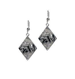 Panabo Sales Salmon Diamond Earrings